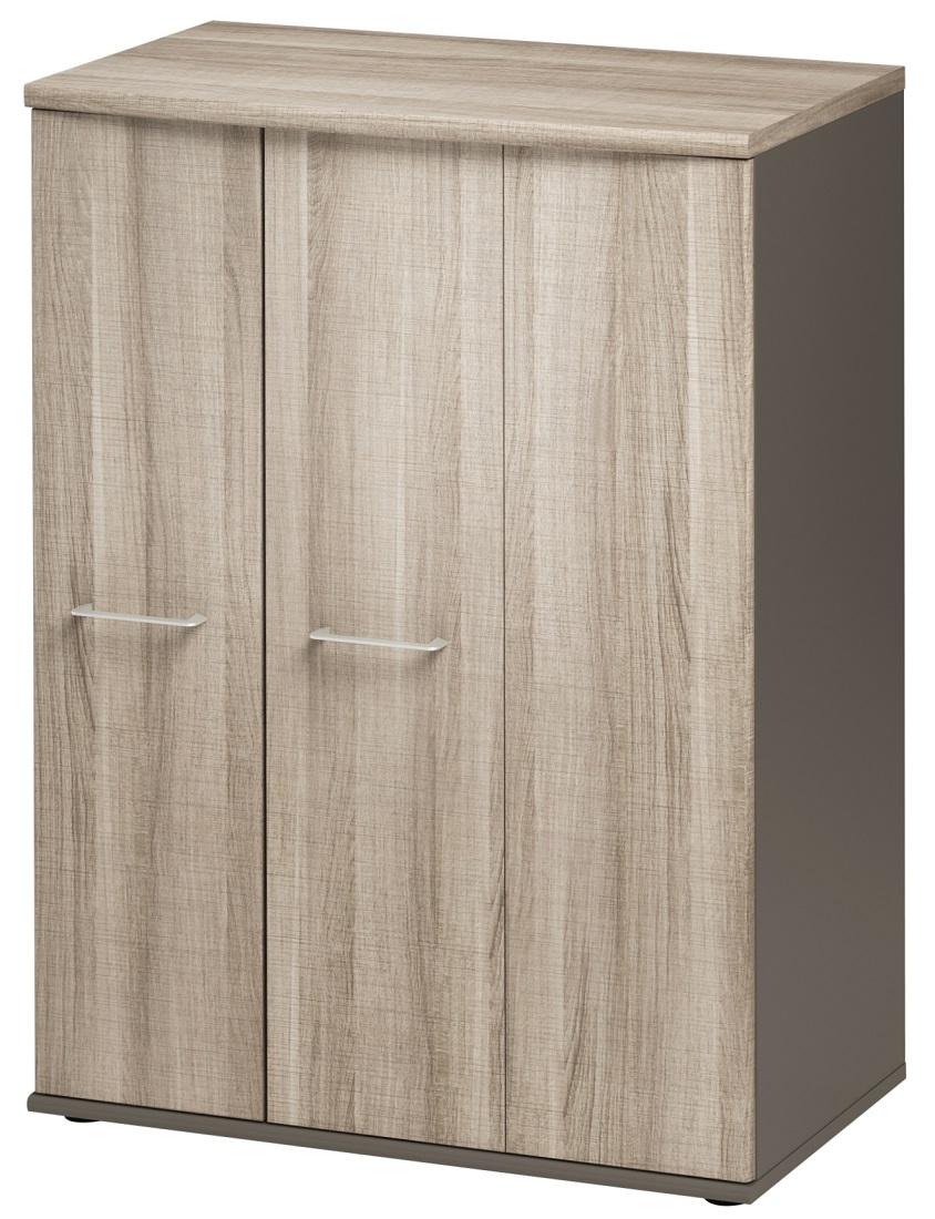 Opbergkast Jazz 114 cm hoog in grijs eiken met grijs | Gamillo Furniture