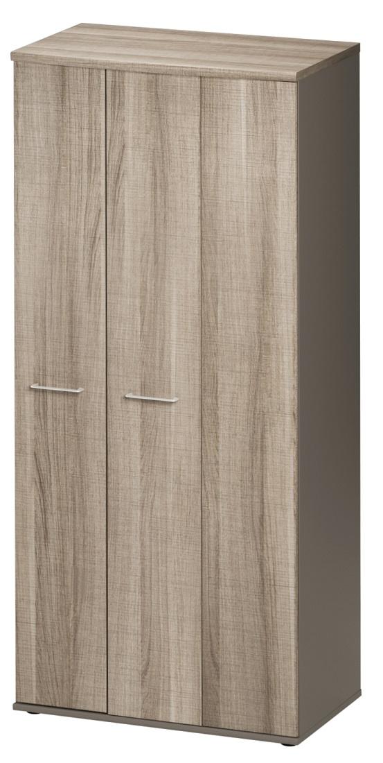 Opbergkast Jazz 183 cm hoog in grijs eiken met grijs | Gamillo Furniture