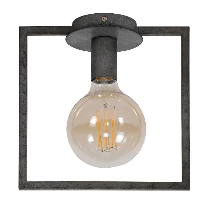 Plafondlamp Frame 26 cm hoog in oud zilver | Zaloni