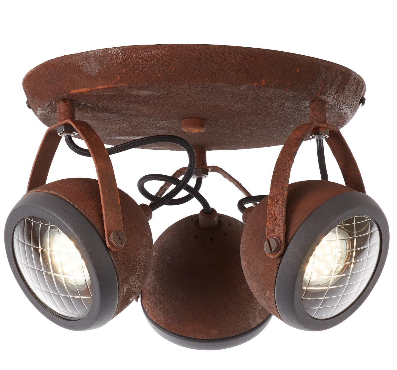 Plafondlamp Relax 3xGU10 max 3x4Watt in roestbruin | Brilliant