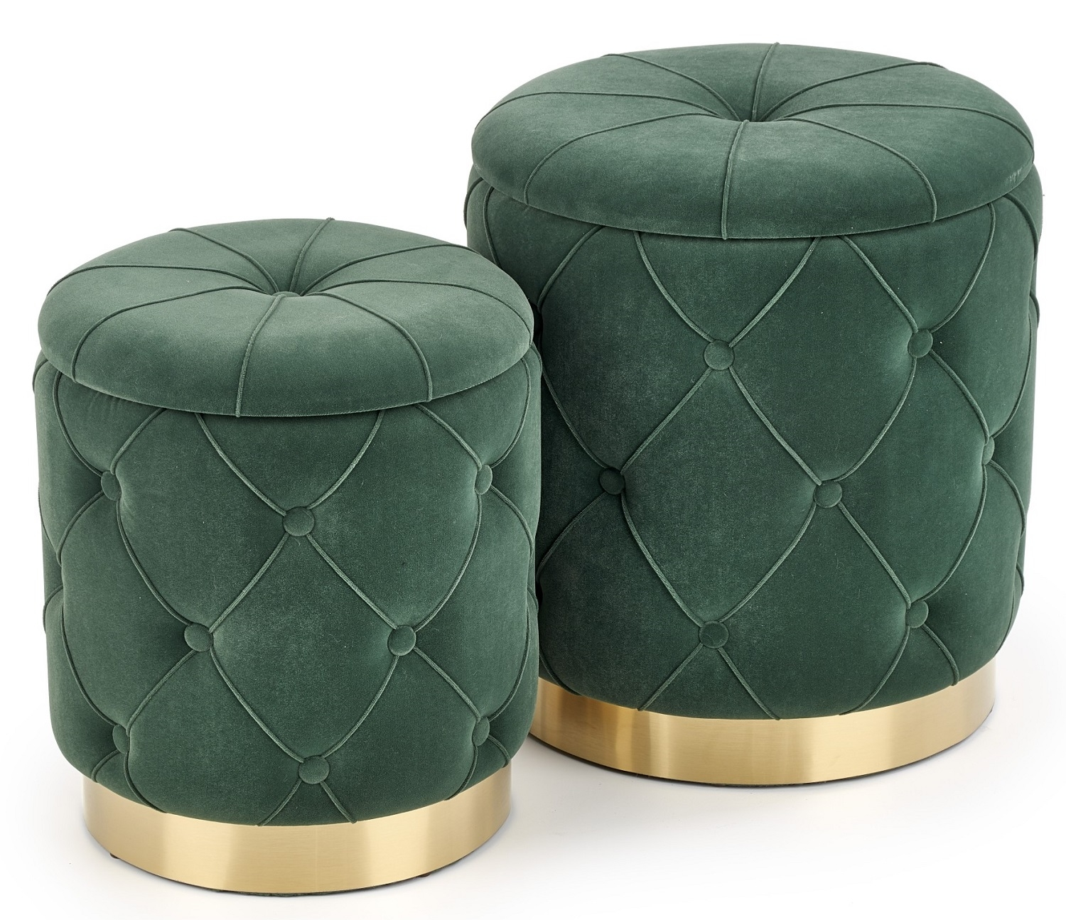 Poef set Polly in groen | Home Style