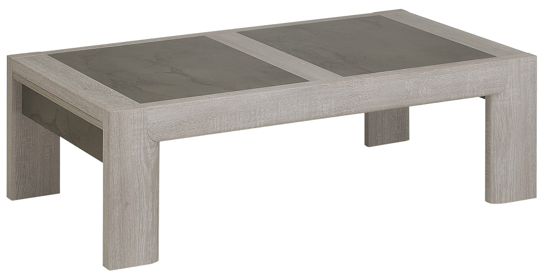 Salontafel Sandro 120 cm breed in licht grijs eiken | Gamillo Furniture