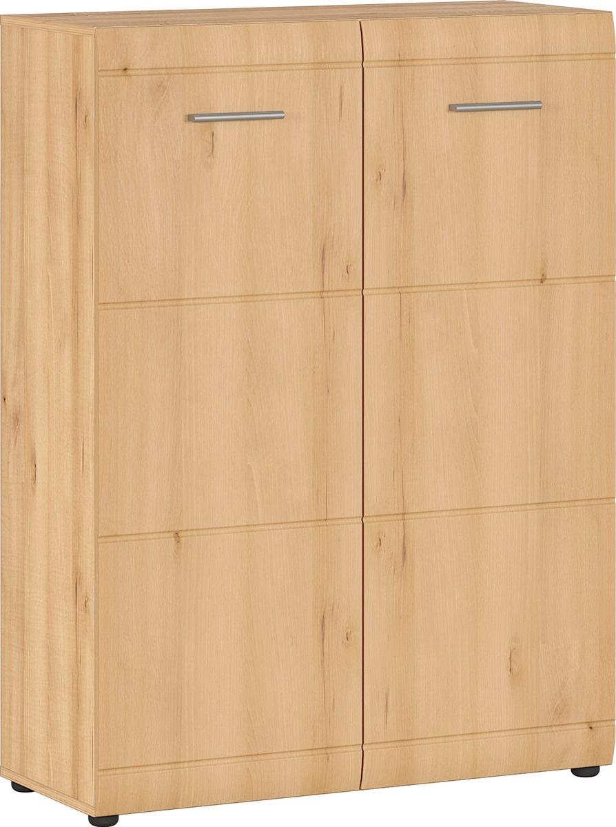 Schoenenkast Adana 120 cm hoog in edel beuken   Germania