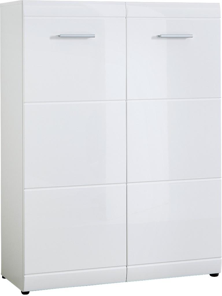 Schoenenkast Adana 120 cm hoog – wit   Germania