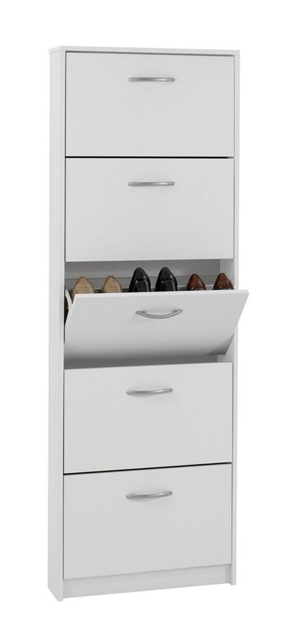 Schoenenkast Step 168 cm hoog in wit   FD Furniture