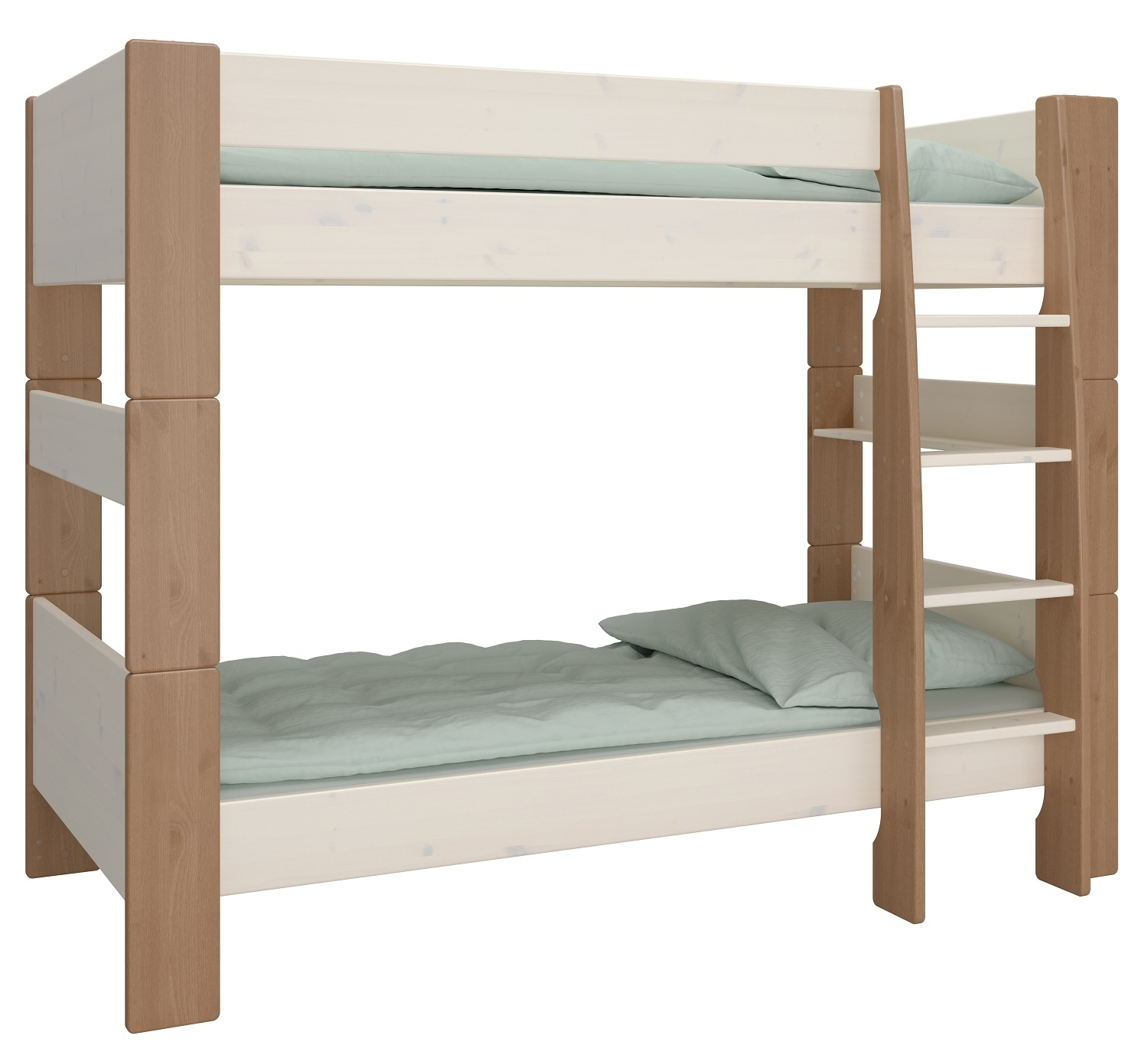 Stapelbed Kids 90x200cm in wit whitewash met steen | DS Style