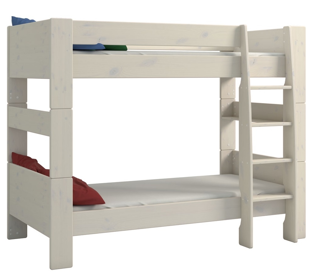 Stapelbed Kids 90x200cm in wit whitewash | DS Style