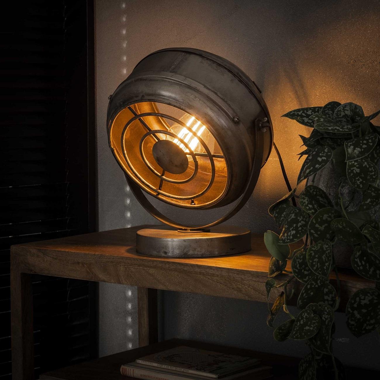 Tafellamp Beam 33 cm hoog in oud zilver | Zaloni
