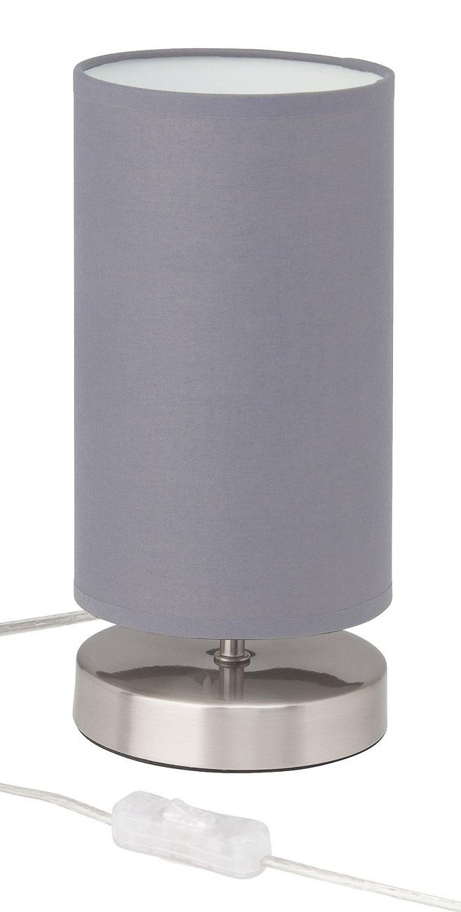 Tafellamp Charly 1xE14 max 40Watt in chroom met grijs | Brilliant