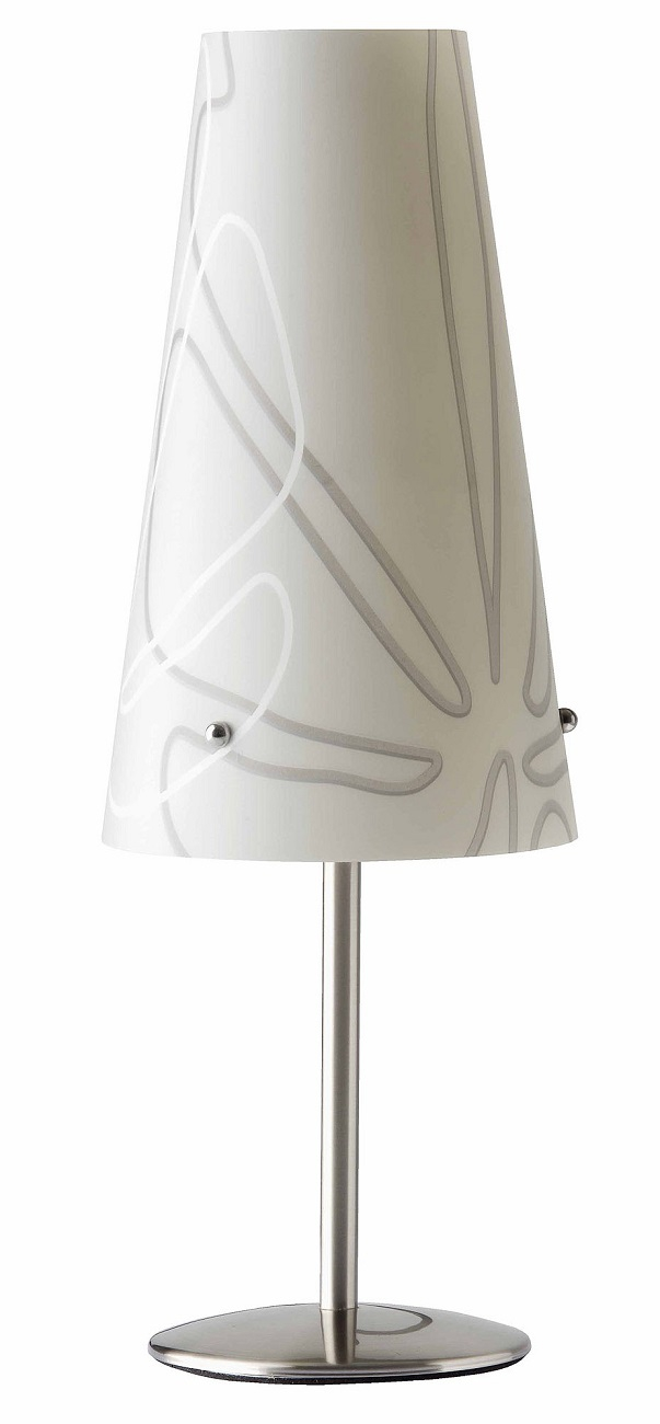 Tafellamp Isa 36 cm hoog in grijs | Brilliant