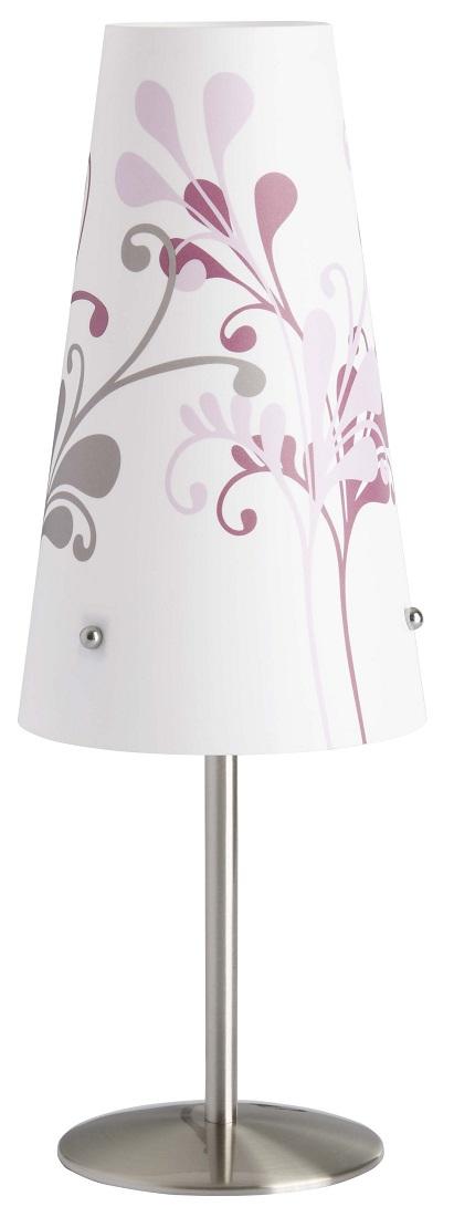 Tafellamp Isa 36 cm hoog in wit met paars   Brilliant