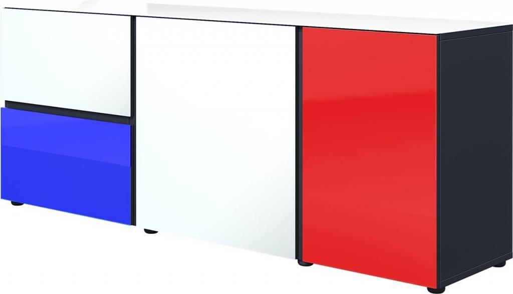 Tv-meubel Ideeus 164 cm breed in multicolor   Germania