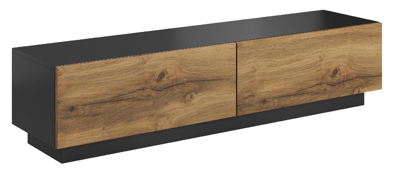 Tv-meubel Livo 160 cm breed in votan eiken met antraciet   Home Style
