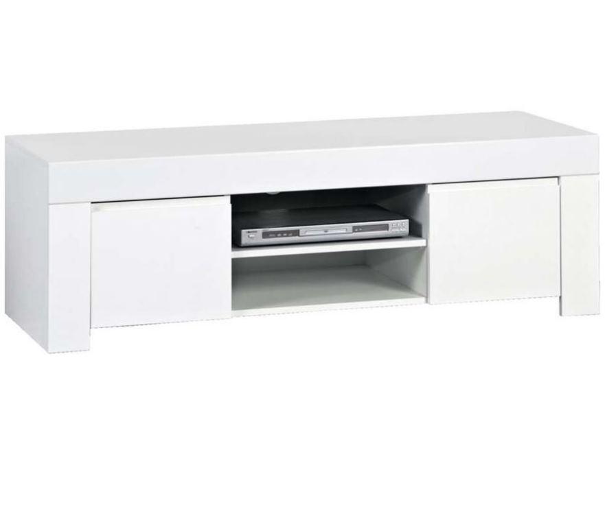 Tv-meubel Malifi 140 cm breed in hoogglans wit | Pesaro Mobilia