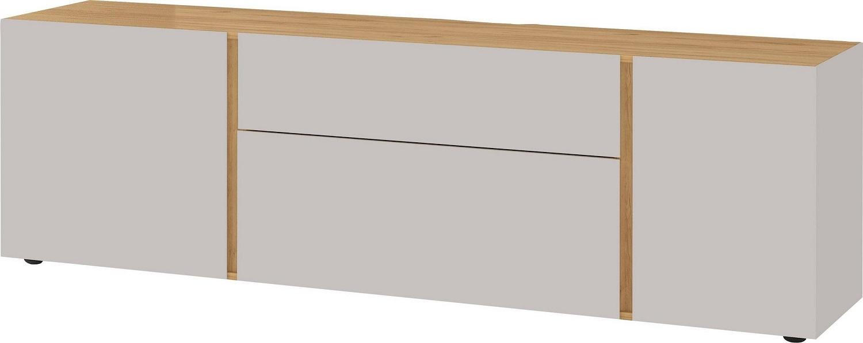 Tv-meubel Mesa 180 cm breed in Cashmere met navarra eiken   Germania