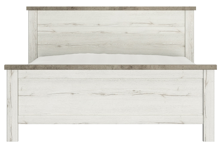 Tweepersoonsbed Chamonix 140x200cm in gebleekte helvezia eiken | Gamillo Furniture