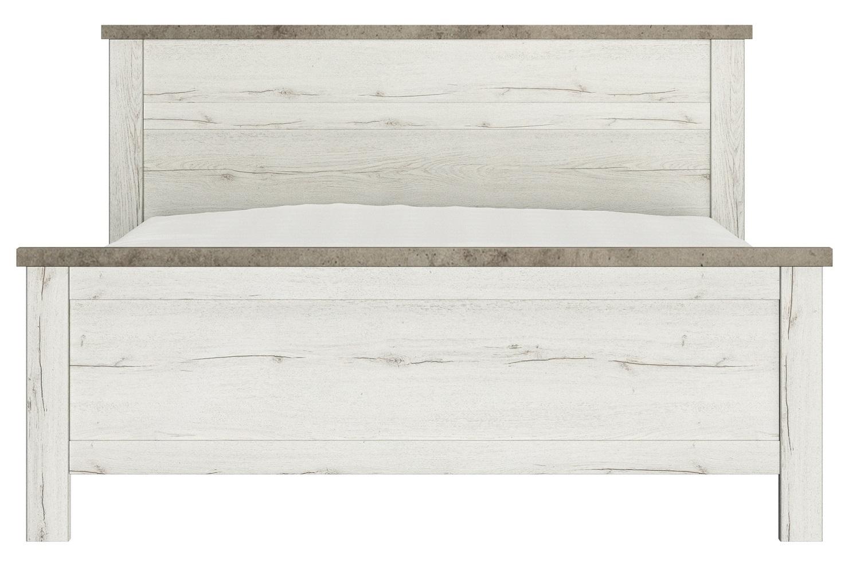 Tweepersoonsbed Chamonix 160x200cm in gebleekte helvezia eiken | Gamillo Furniture
