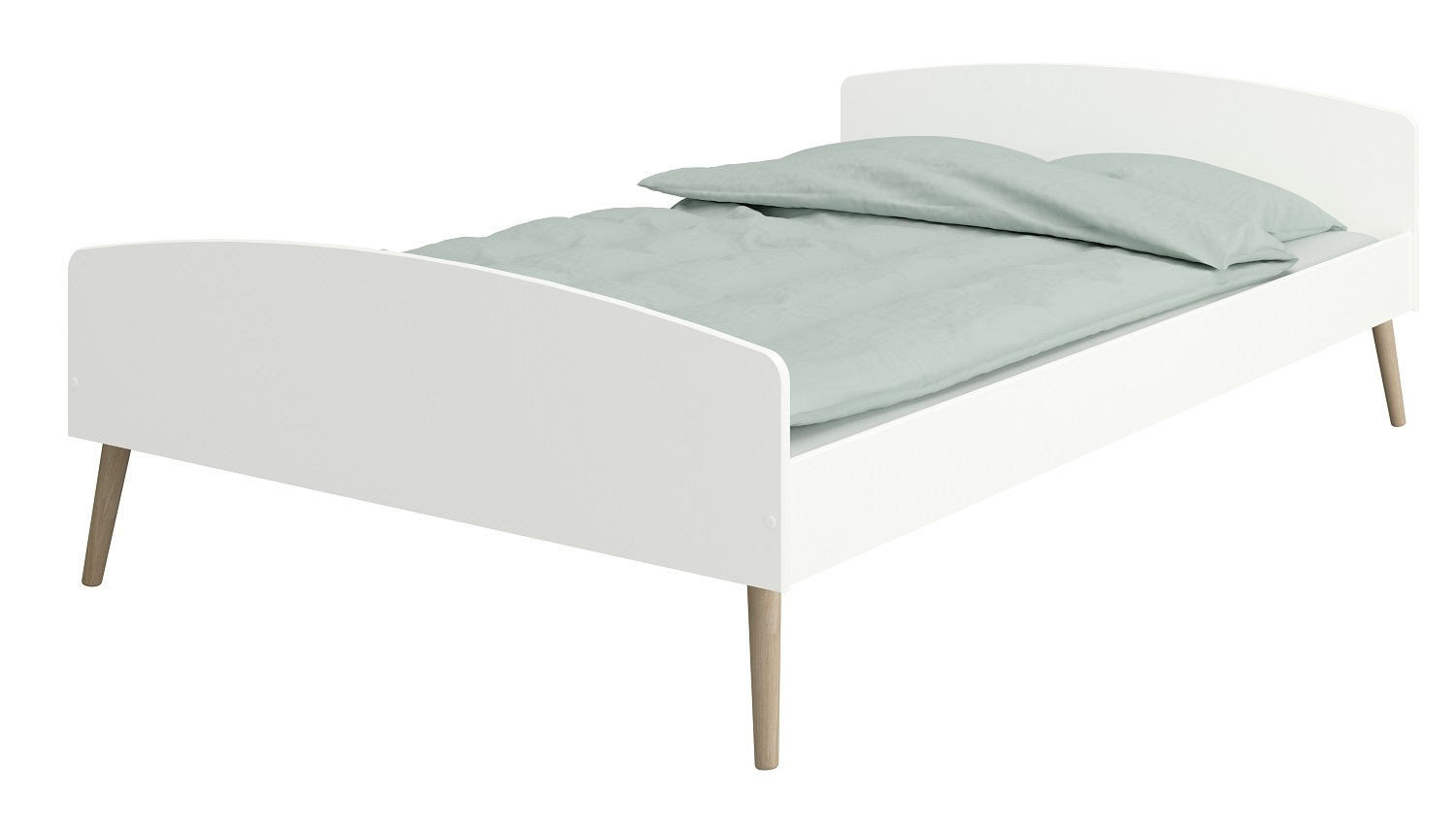 Tweepersoonsbed Kids 140x200cm in wit | DS Style