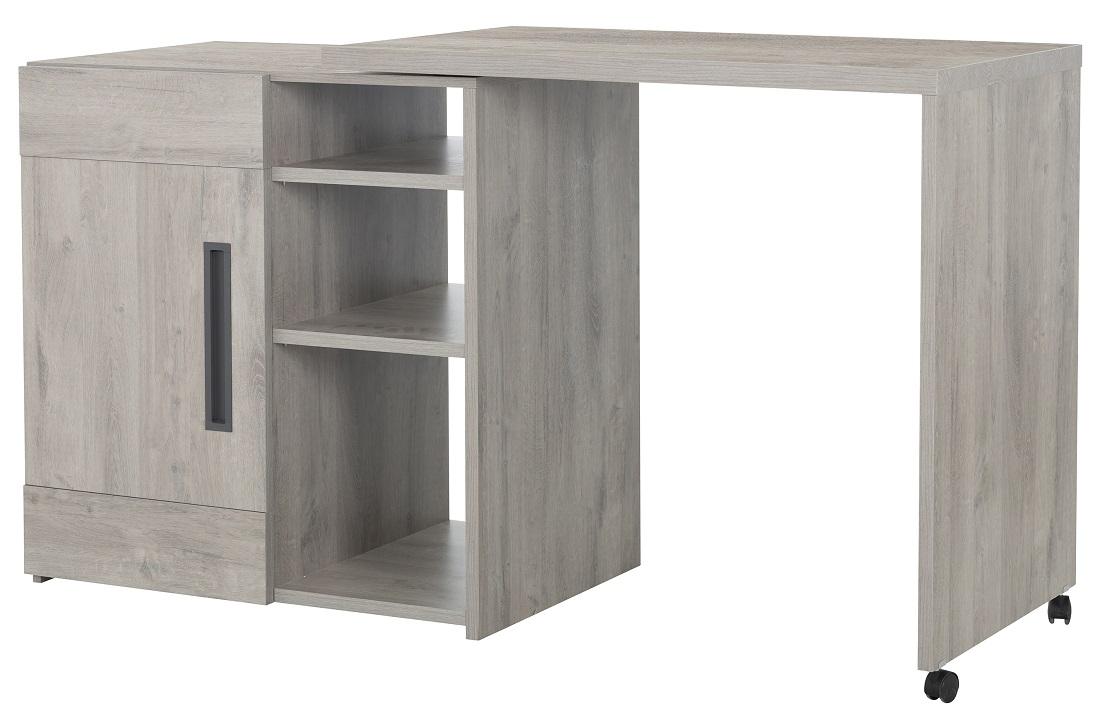 Uitschuifbare bartafel Boston 102 tot 160 cm breed in licht grijs eiken | Gamillo Furniture