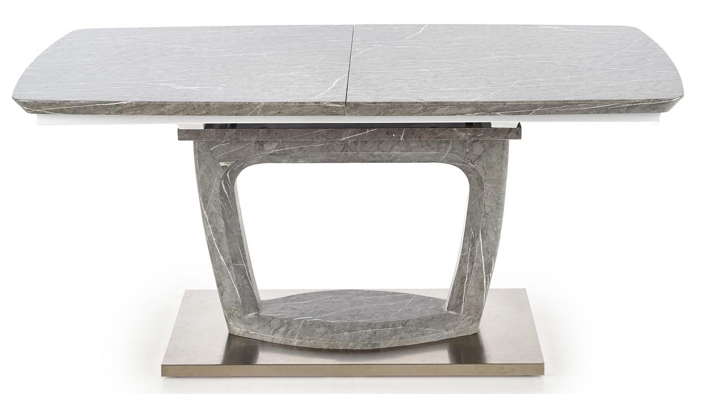 Uitschuifbare eettafel Artemon 160 tot 220 cm breed in marmer grijs | Home Style