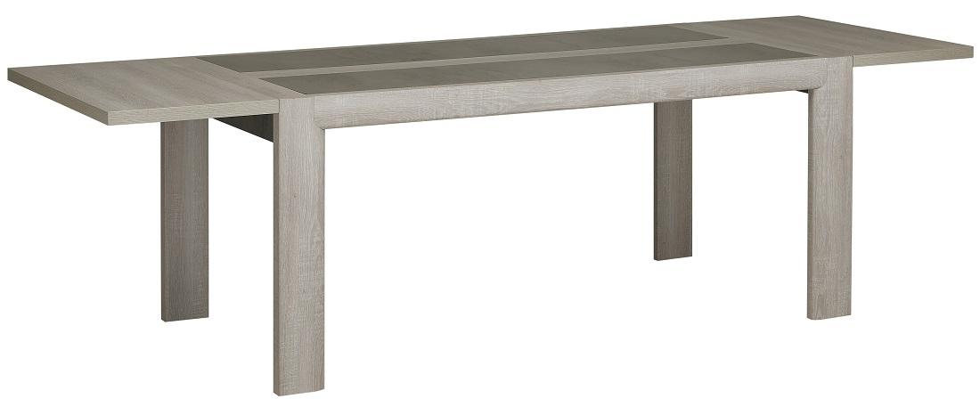 Uitschuifbare eettafel Sandro 180 tot 270 cm breed – Licht grijs eiken | Gamillo Furniture