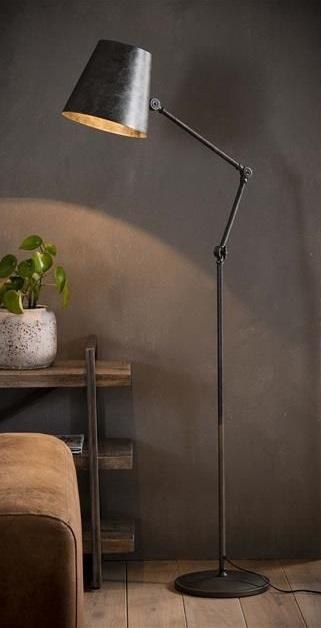 Verstelbaar Vloerlamp Knik 152 cm hoog – Charcoal | Zaloni