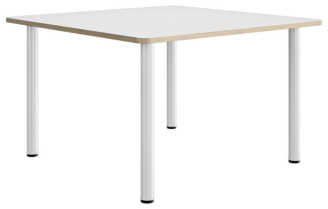 Vierkante tafel Artefact 140 cm breed in wit met eiken | Gamillo Furniture