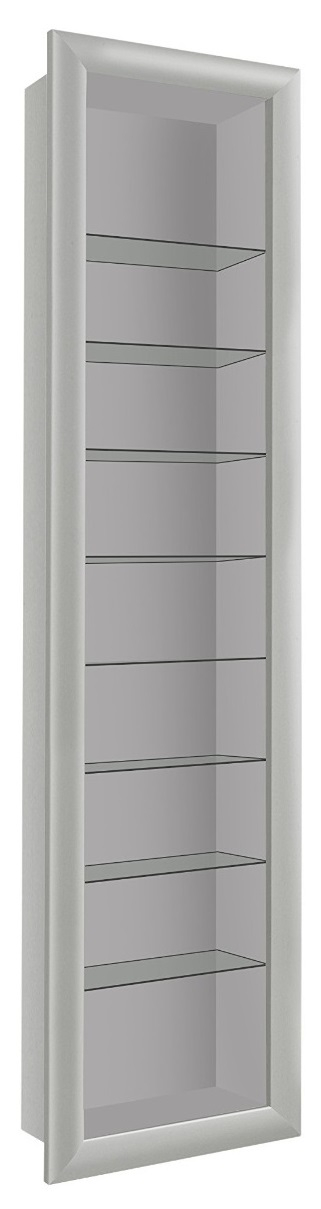 Vitrine hangkast Bora 169 cm hoog in wit | FD Furniture