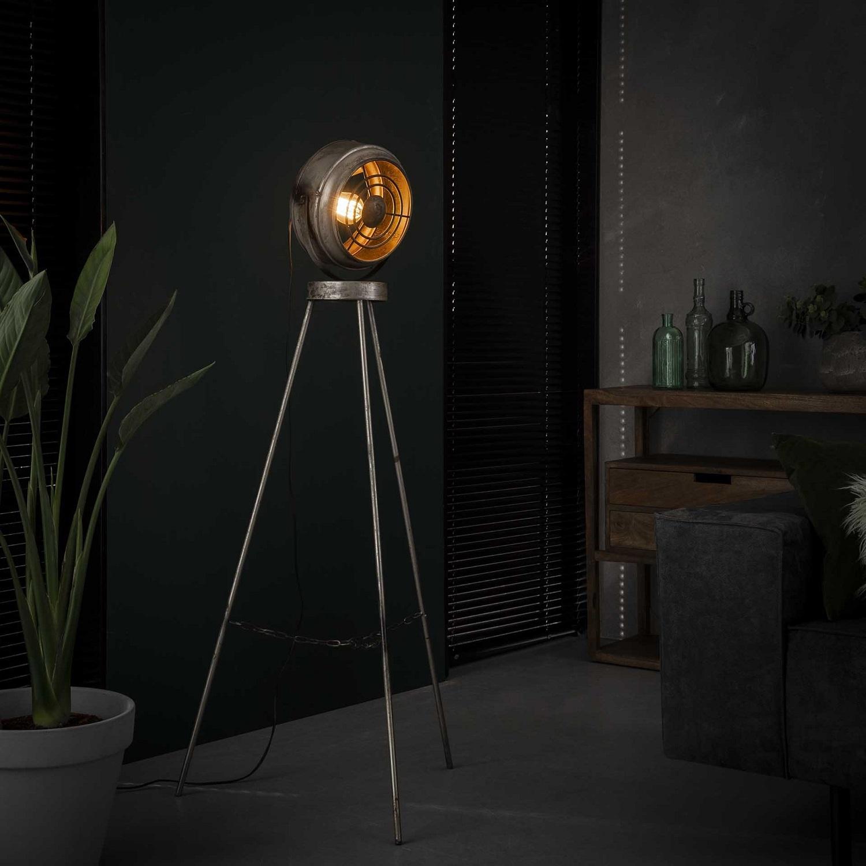 Vloerlamp Beam 133 cm hoog in oud zilver | Zaloni
