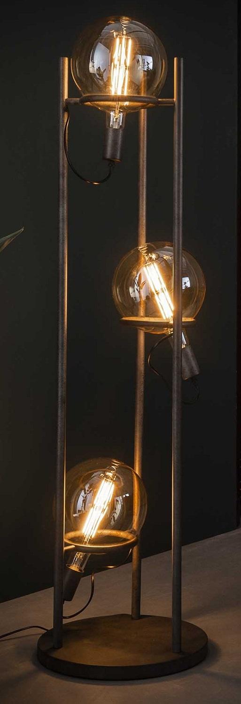 Vloerlamp Saturn 133 cm hoog in oud zilver | Zaloni