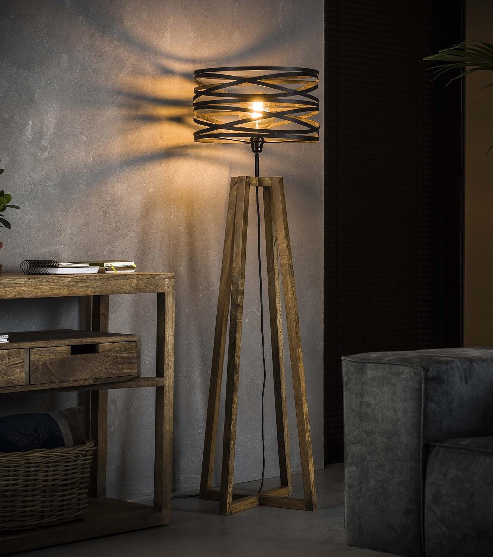 Vloerlamp Twister 141 cm hoog in slate grijs | Zaloni
