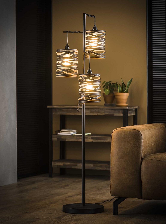 Vloerlamp Twister 150 cm hoog in slate grijs | Zaloni
