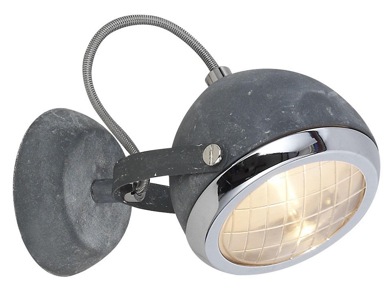 Wandlamp Relax 1xG9 max 33 Watt in grijs beton   Brilliant