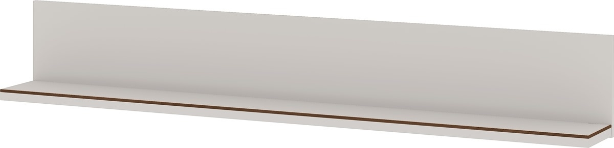 Wandplank California 164 cm breed in Cashmere met walnoot | Germania