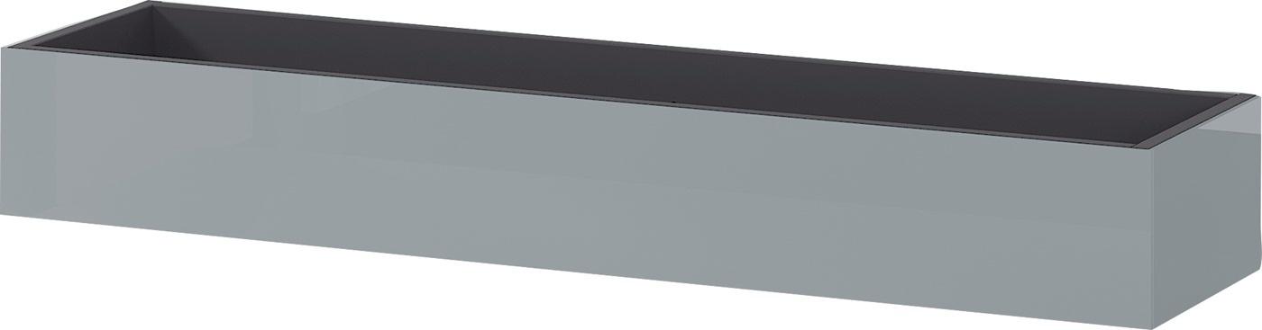 Wandplank Mesa 101 cm breed in grafiet met zilvergrijs | Germania