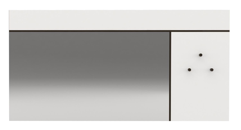Wandspiegel Prado 120 cm breed in hoogglans wit | Ameubelment
