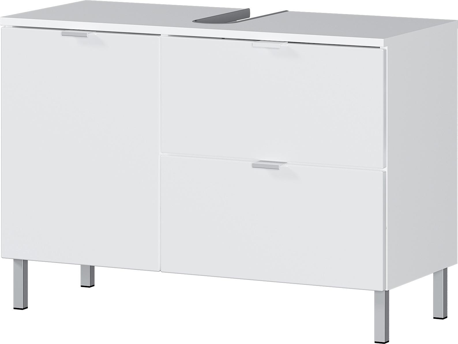 Wastafelonderkast Bruno L 56 cm hoog in wit | Germania