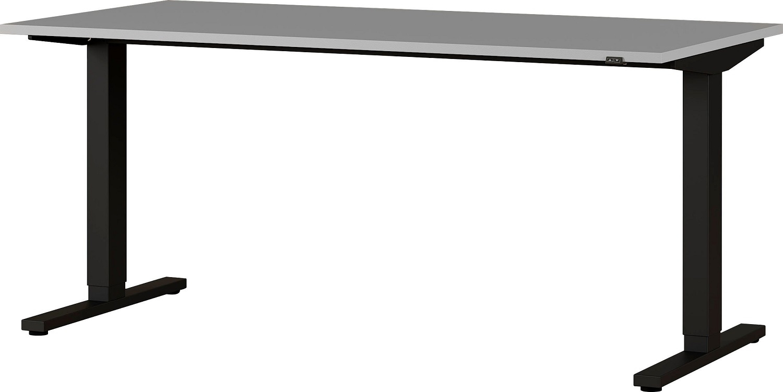 Zit sta bureau Agenda B160xH72-120xD80 cm in lichtgrijs met zwart | Germania