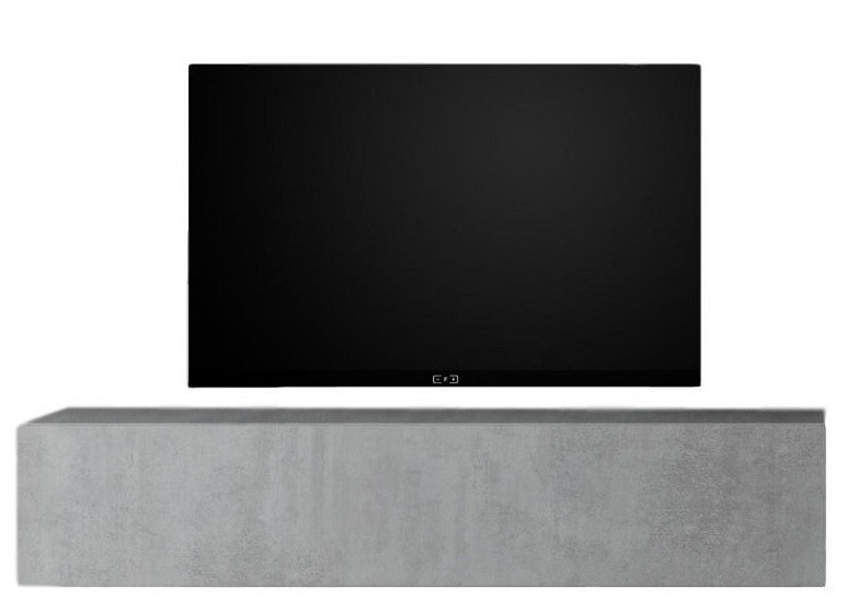 Zwevend Tv-meubel Tesla 138 cm breed in grijs beton | Pesaro Mobilia
