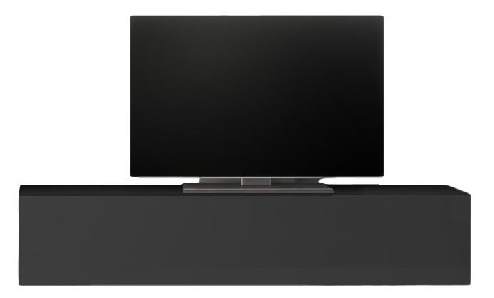 Zwevend Tv-meubel Tesla 138 cm breed in hoogglans grijs | Pesaro Mobilia