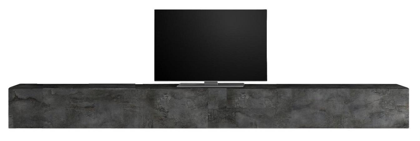 Zwevend Tv-meubel Tesla 276 cm breed in Oxid | Pesaro Mobilia