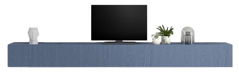 Zwevend Tv-meubel Tesla 276 cm breed in blauw | Pesaro Mobilia