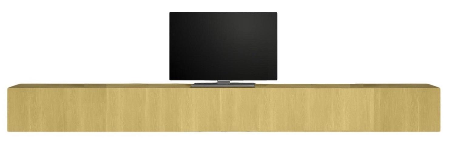 Zwevend Tv-meubel Tesla 276 cm breed in geel | Pesaro Mobilia