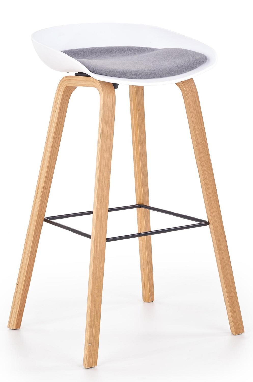 Barkruk Inno 81 cm hoog in wit met grijs | Home Style