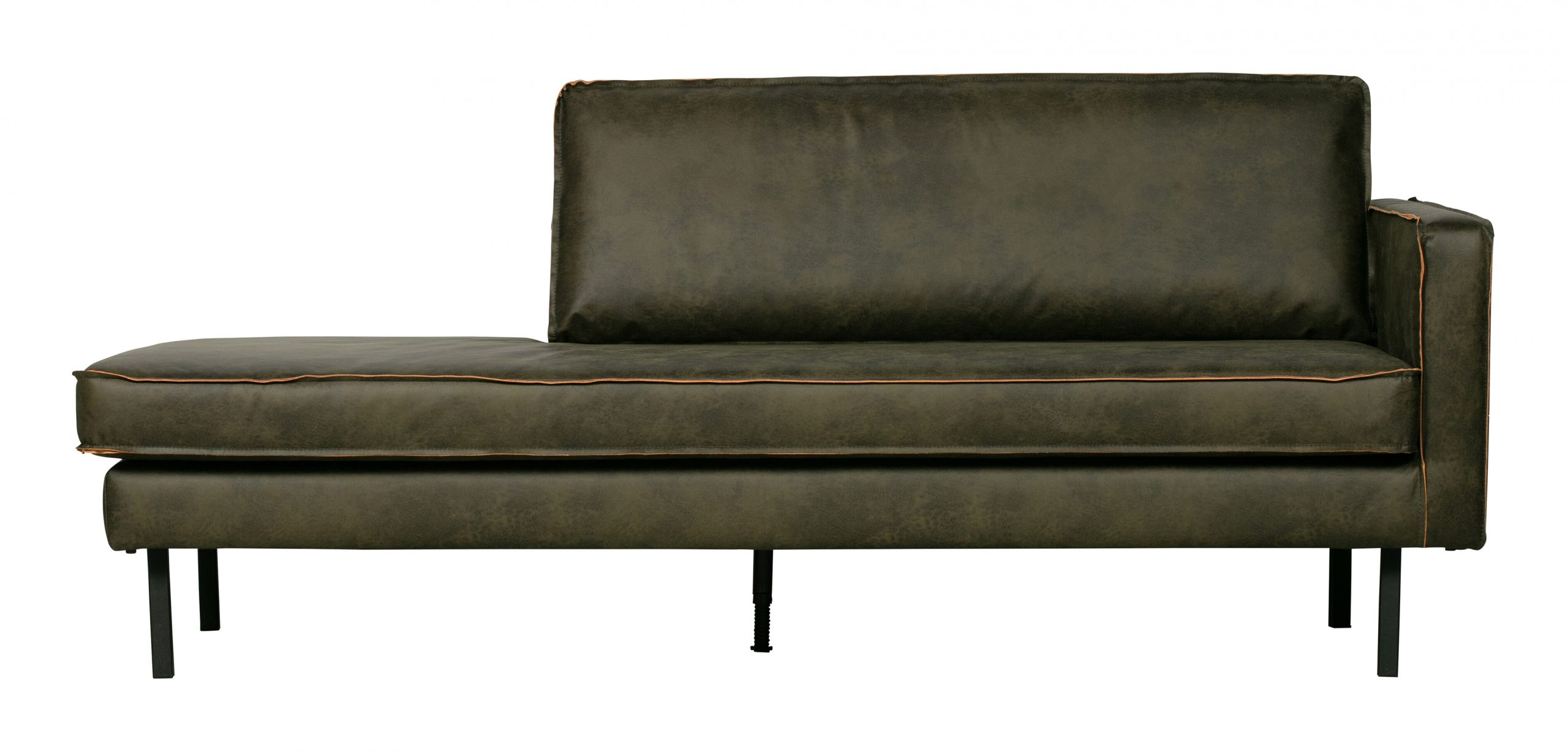 BePureHome Daybed 'Rodeo' Rechts, kleur Army   BePureHome