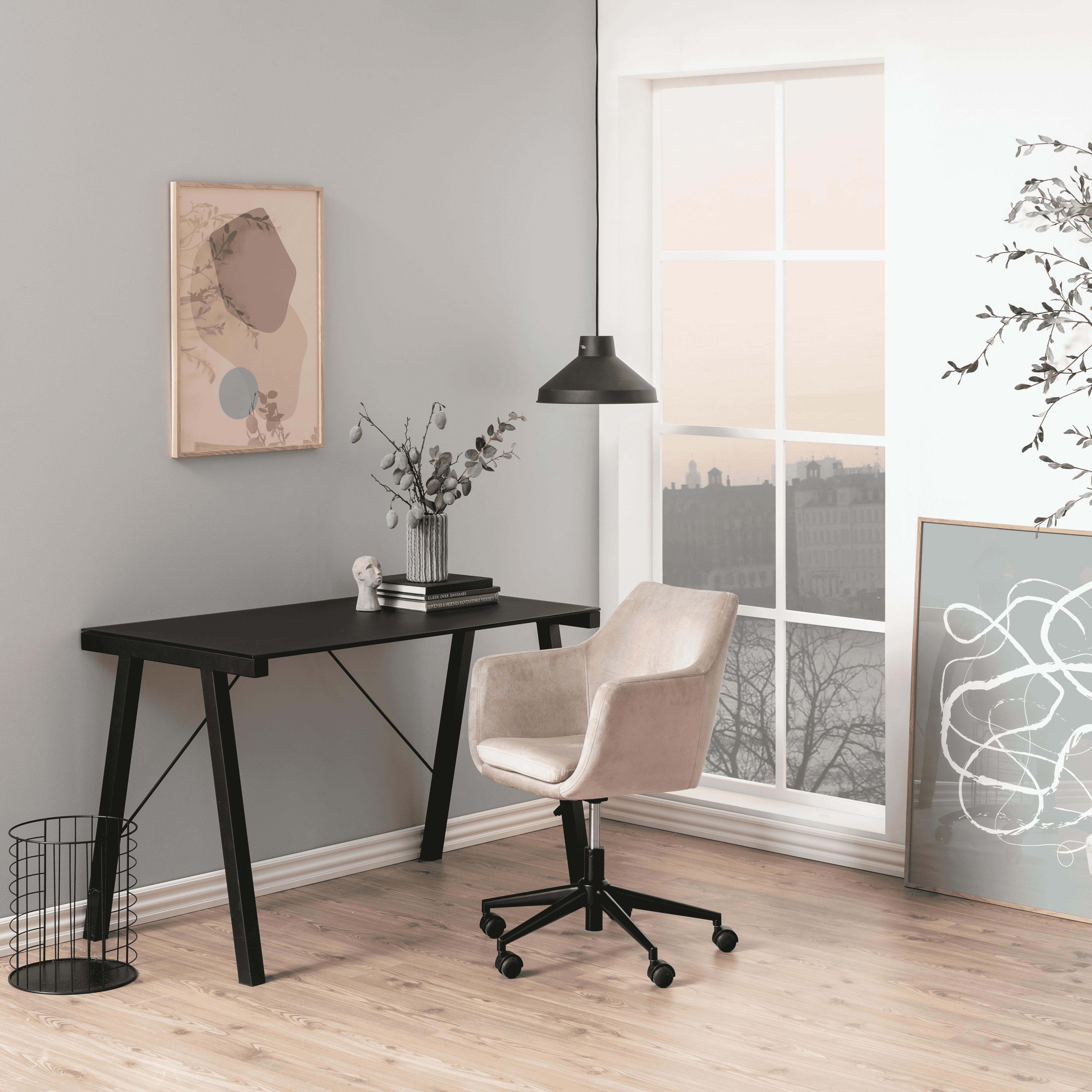 Bendt Bureaustoel 'Rikke' Velvet, kleur Dusty Rose   Bendt