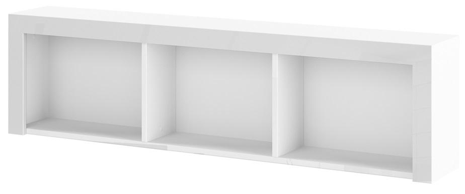 Hangkast Impresja 150 cm breed in hoogglans wit | Hubertus Meble
