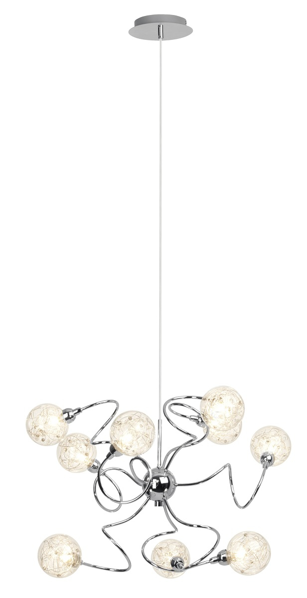 Hanglamp Joya 135 cm hoog in chroom | Brilliant