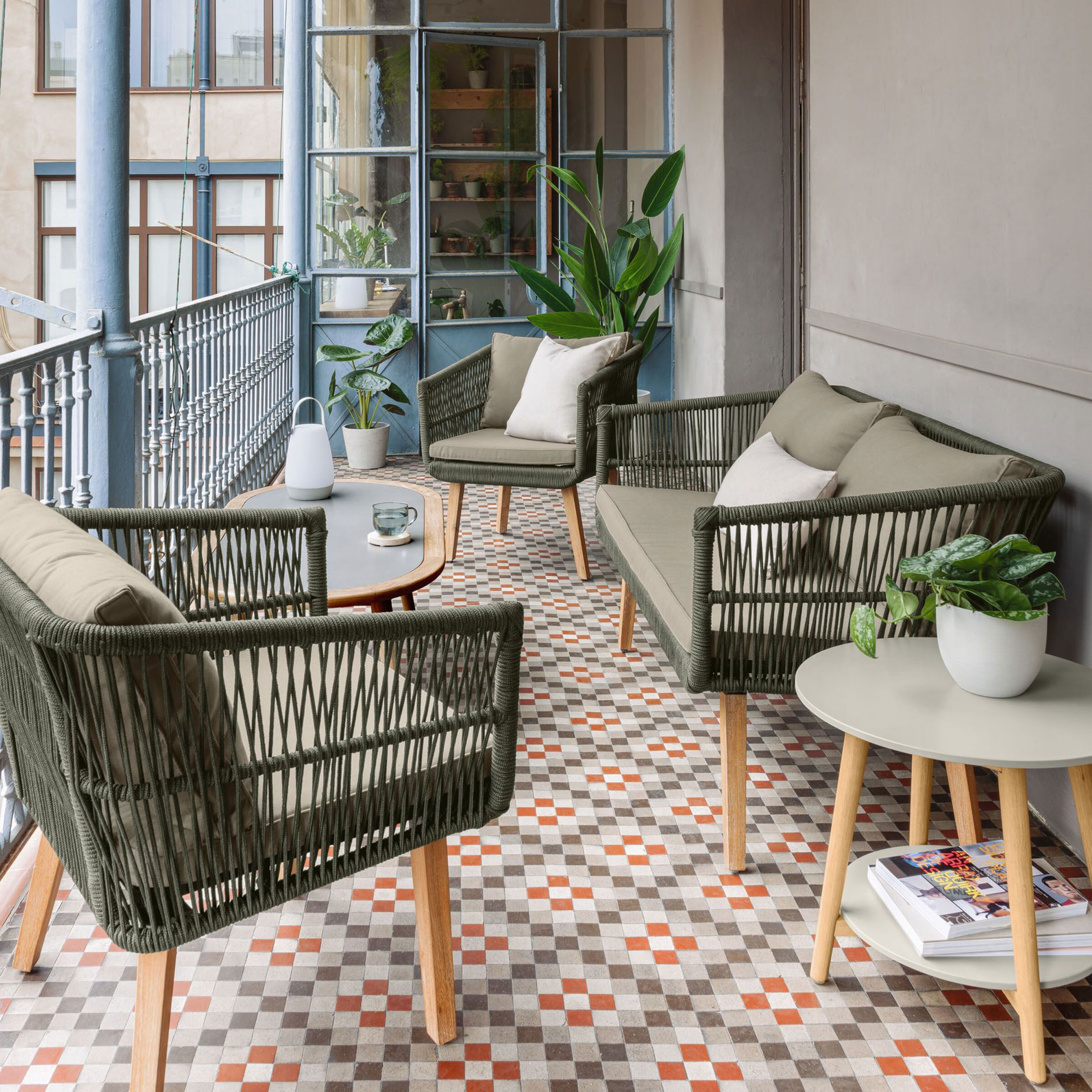 Kave Home Tuinset 'Inti', kleur Groen | Kave Home