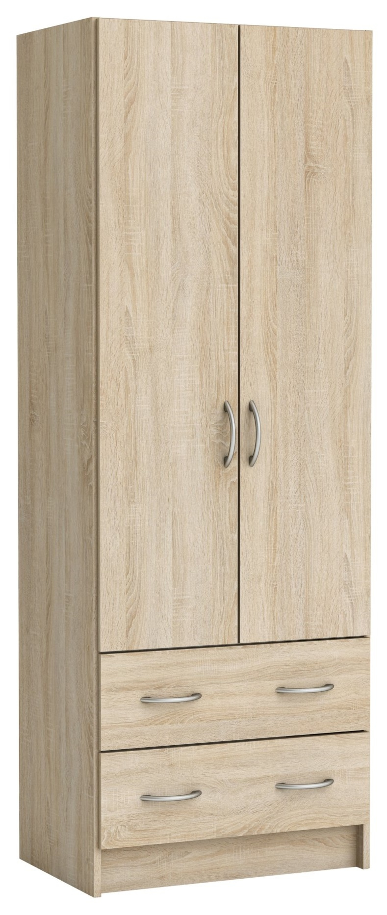 Kledingkast Linen 60 cm breed in geborsteld eiken | Young Furniture